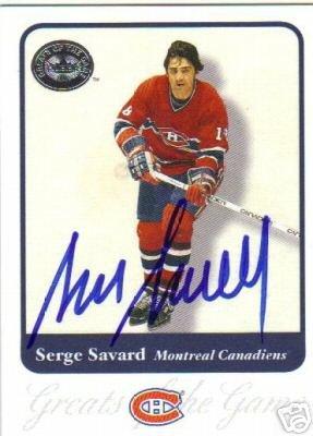 ~Serge Savard Autographed Hockey Card HOF Canadiens~