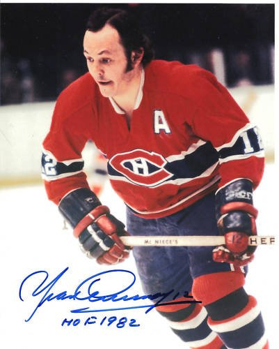 ~Yvon Cournoyer Habs HOF Autographed Hockey 8x10 Photo~