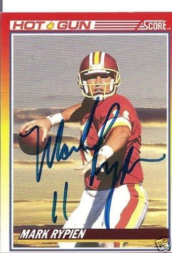 ~Mark Rypien NFL Redskins Autographed Football Card~