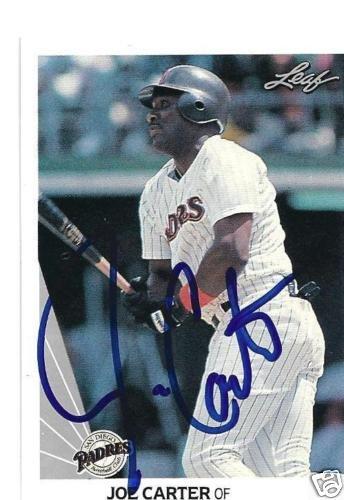~Joe Carter MLB SD Padres Autographed Baseball Card~