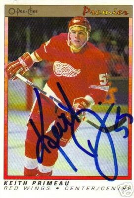 ~Keith Primeau Autographed Hockey Rookie Card Wings~