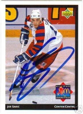 ~Joe Sakic Autographed Hockey Card 92/93 UD All Star~
