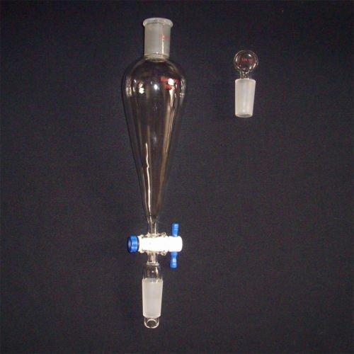 250ml Separatory funnel,,24/40,glass stopper,lab glass
