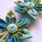 FABRIC FLOWER HAIR CLIPS - SET OF 2 IN SASSY GIRL