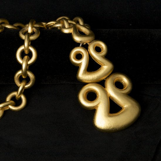 Vintage Classic Golden Link Kenneth Lane Necklace
