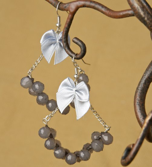Grey Chandelier Fashion Earrings