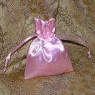 Satin Gift Jewelry Pouch - Light Pink 3 x 4 inch