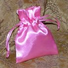 Satin Gift Jewelry Pouch - Rose Pink 3 x 4 inch