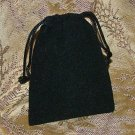 Velour Gift Jewelry Pouch - Black 3 x 4 inch