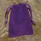 Velour Gift Jewelry Pouch - Purple 3 x 4 inch