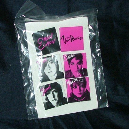 "The Von Bondies Alternative Rock Band ""Pawn Shoppe Heart"" Button Pins on Card, Mint, Set of 6 Square"