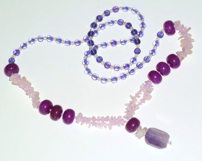 Amethyst Bohemian Style Gemstone Necklace