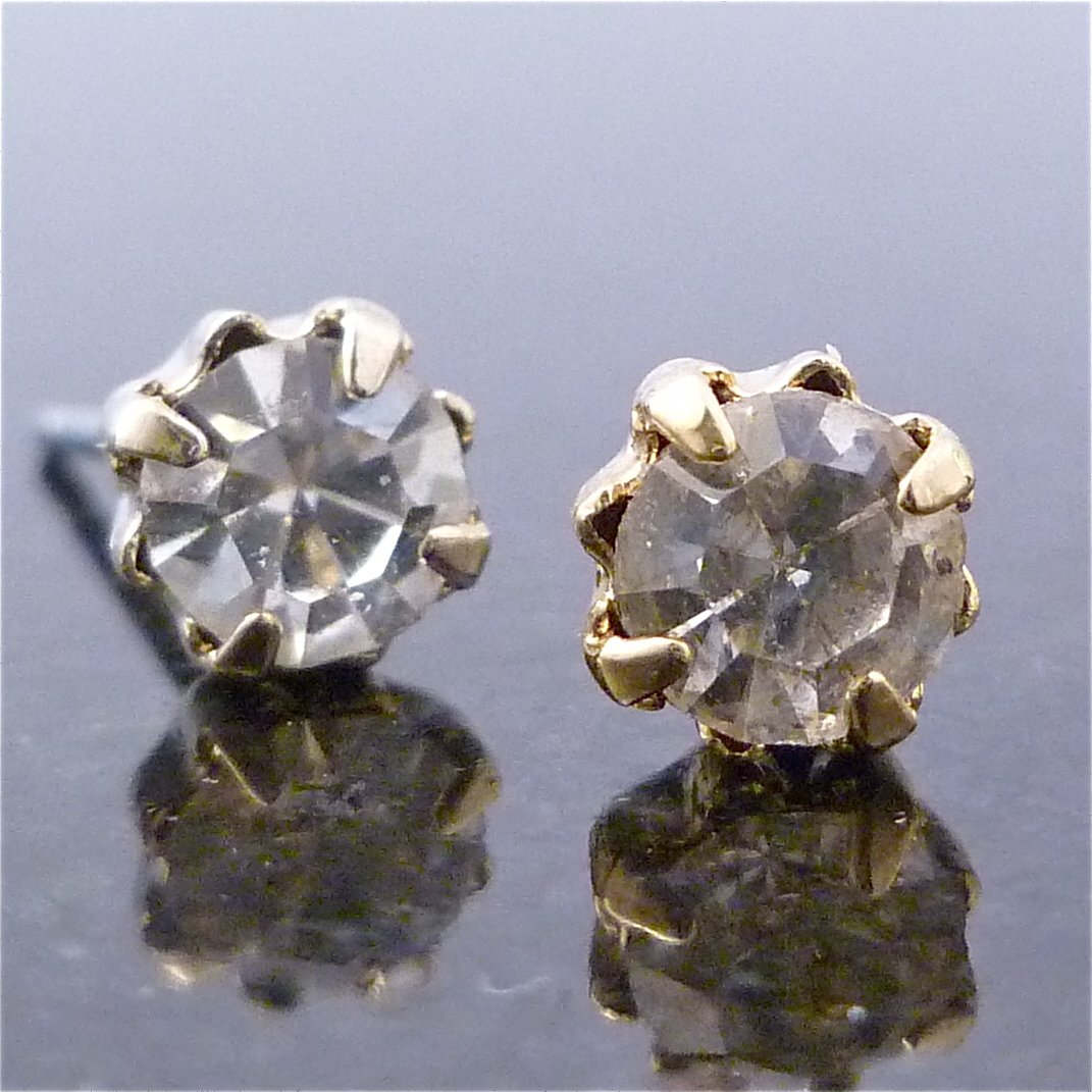 Austrian Crystal Round Stud Earrings 3.5mm