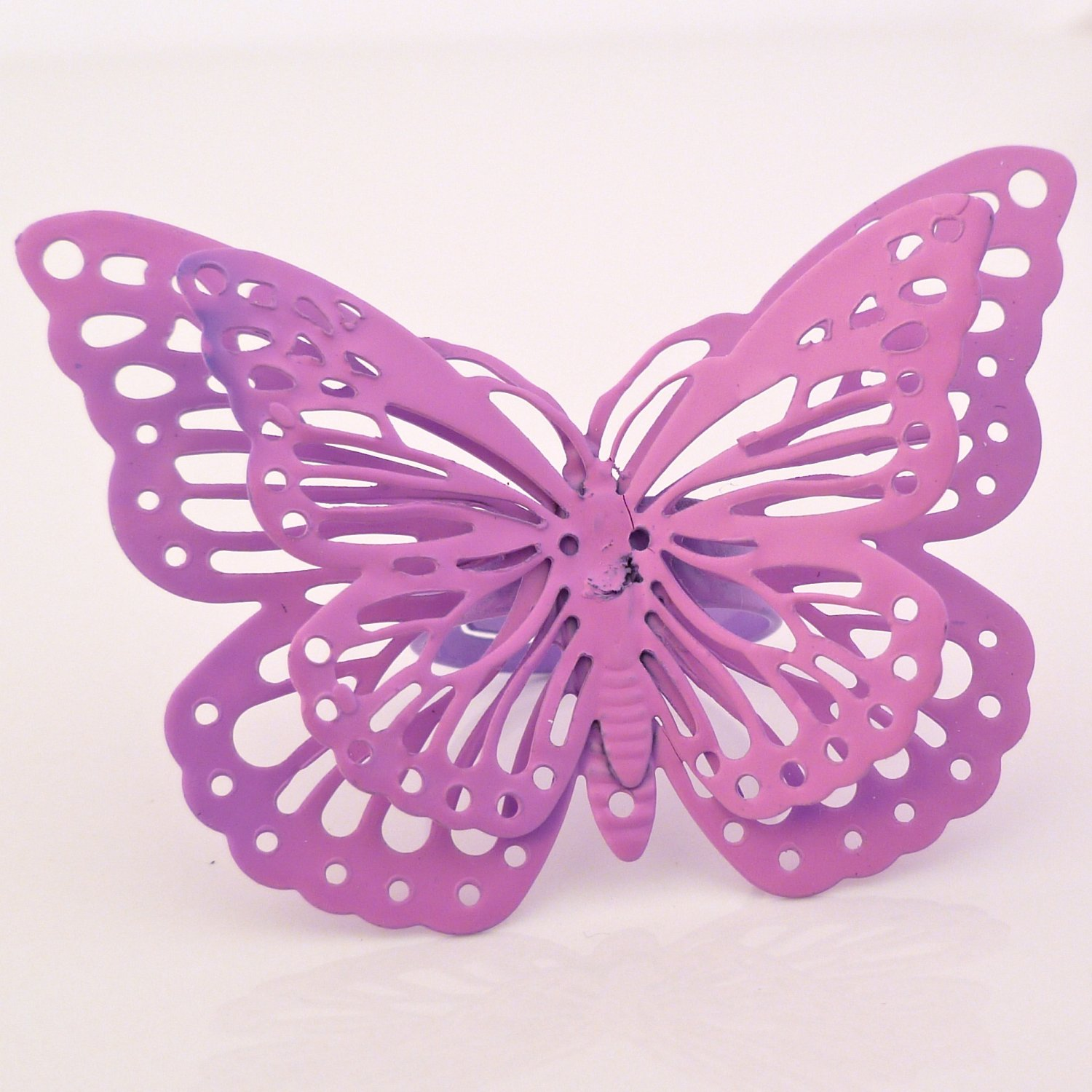 Whimsical Enchanted Butterfly Ring - Hot Pink