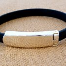 Mens & Ladies Black ID Bracelet