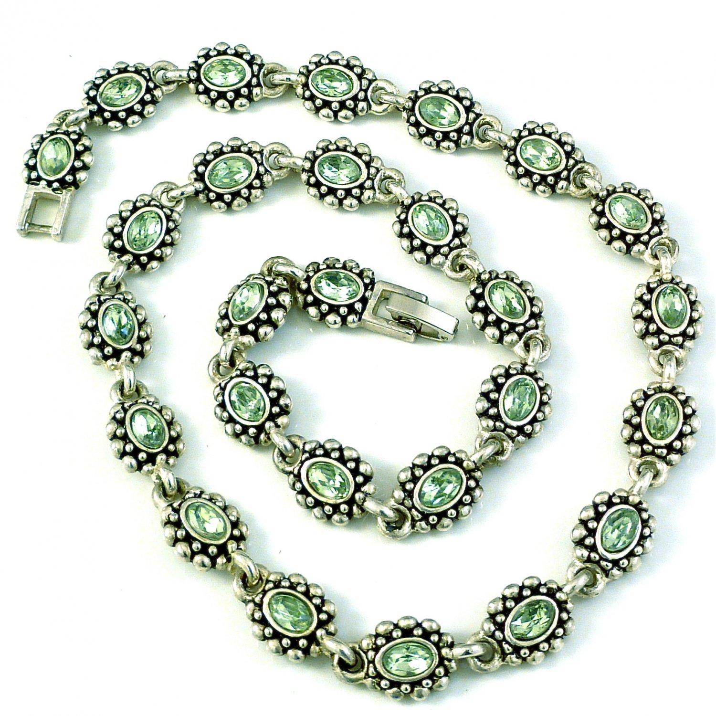 Peridot Crystal Necklace