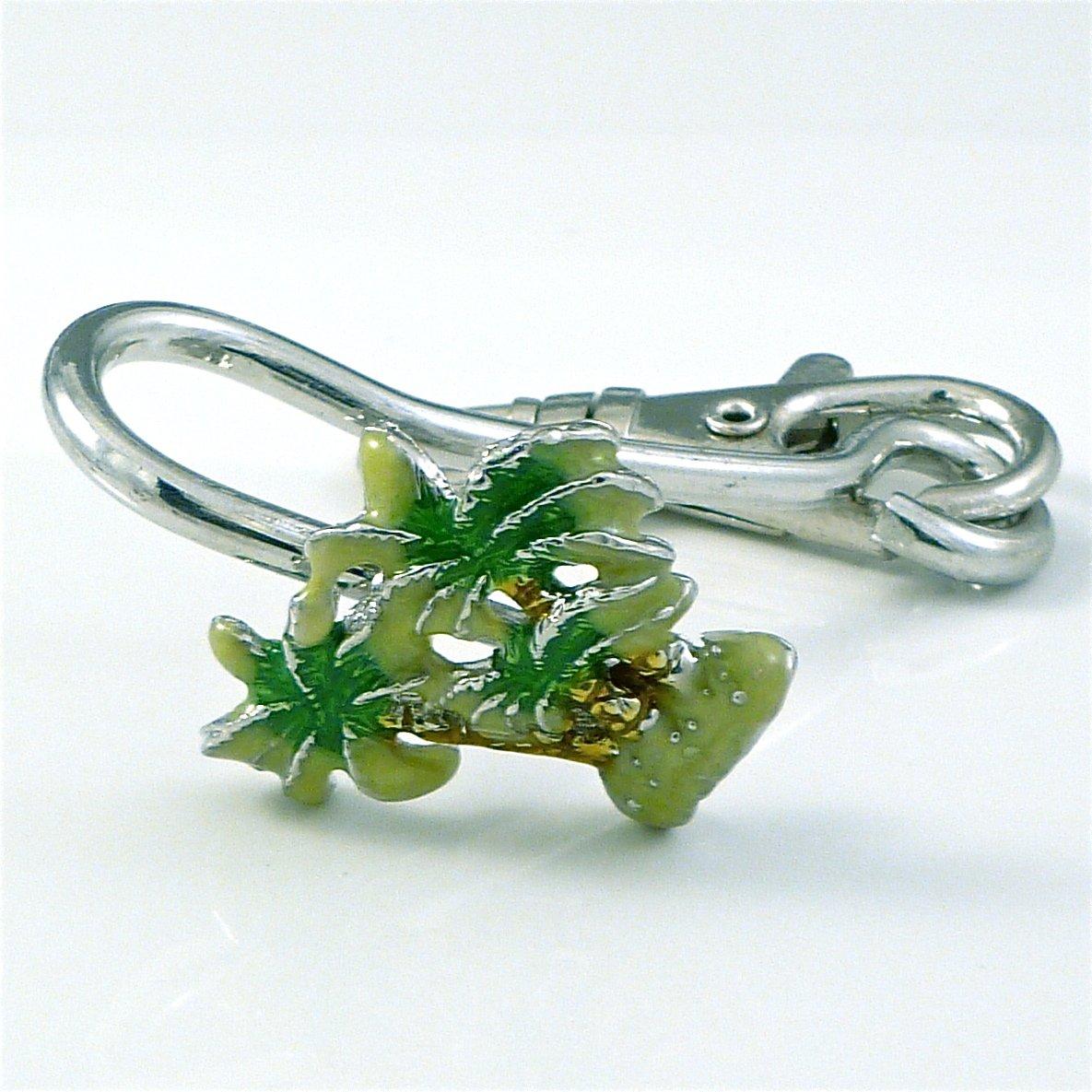 Palm Tree Key Ring Holder Finder Keychain