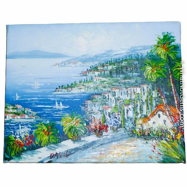 Scenic View of Mediterranean Seaside Town