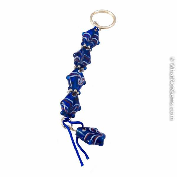 Blue Murano Style Key Chain