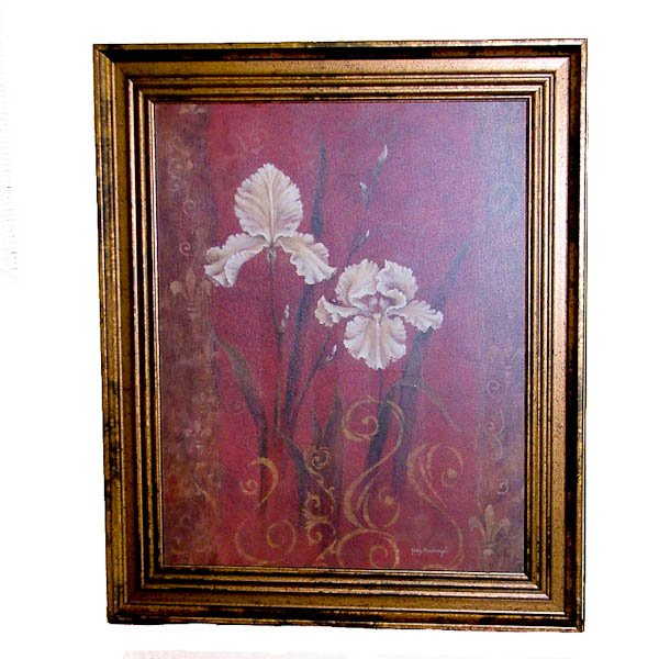 Framed Iris Design by Judy Mastrangelo