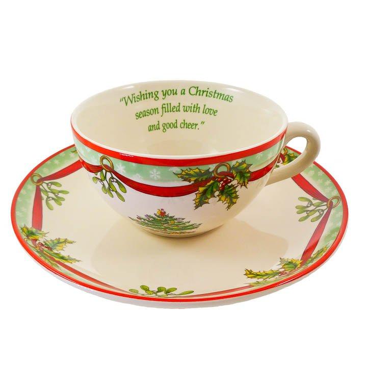 Spode Christmas Tree Cup & Saucer  - 2009