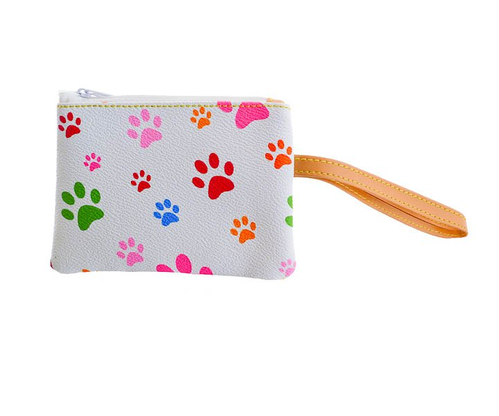 White Blossom Collection Paw Print Wristlet