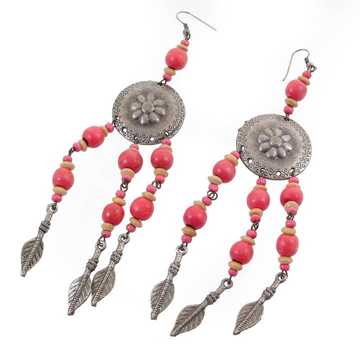 Shield & Arrow Rose Earrings