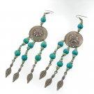 Shield & Arrow Turquoise Blue Earrings