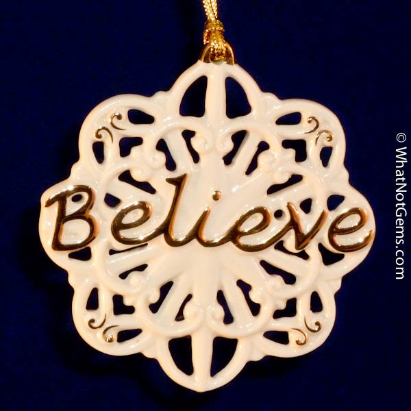 Lenox 'Believe' Pierced Christmas Ornament
