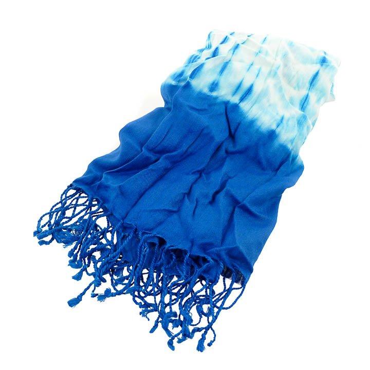 New York & Company Tie Dye Scarf - Blue