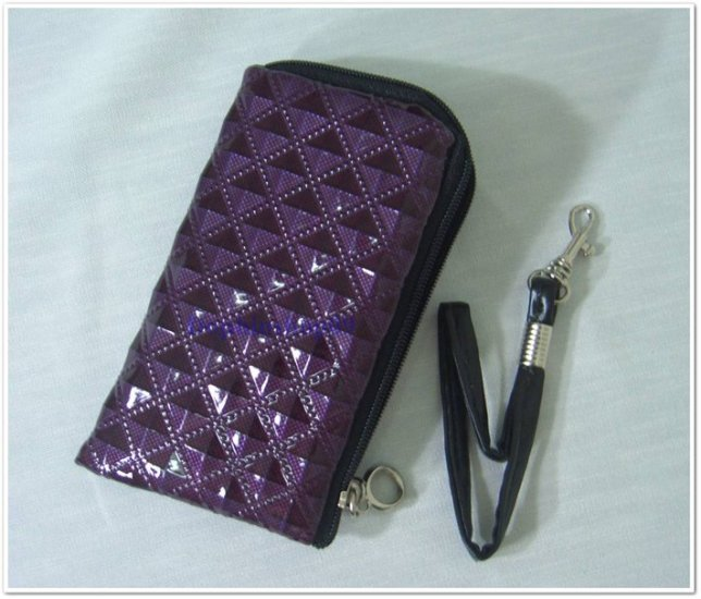 Shining Purple Cell Phone Bag Purse Case w/ Strap