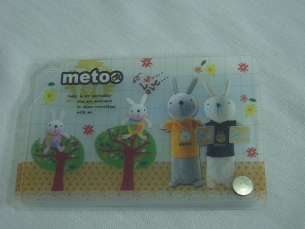 Transparent Rabbit Name Card Holder 8 Pocket