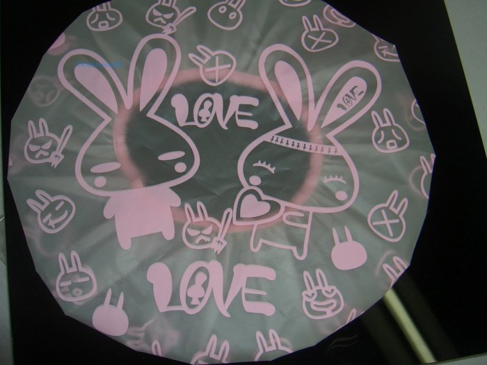 White Pink Love Rabbit Shower Cap Fres Shipment