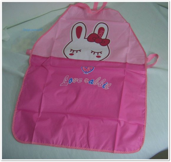 Pink Love Rabbit Waterproof Ventilated Apron