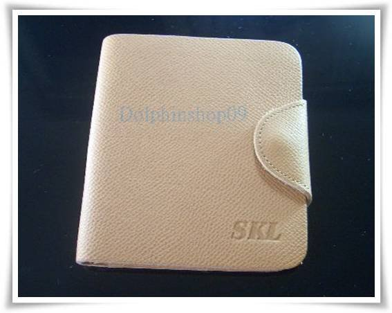 Beige Genuine Leather Wallet store Credit Card