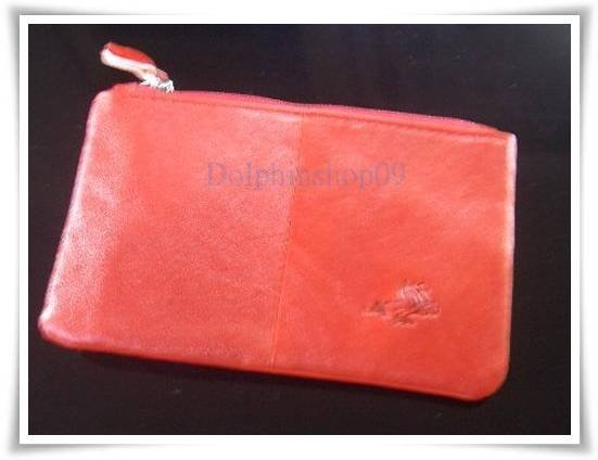 Red Leather Key Purse Holder Coin Bag 2 In 1