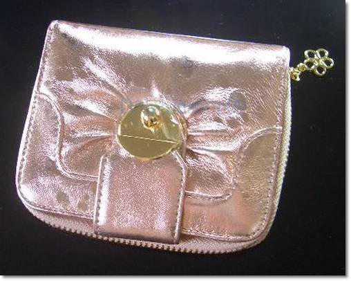 Shining Pink Patent Leather Leather Wallet Purse Store Credit Card Coin