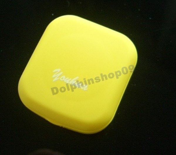 Mini Portable Yellow Portable Contact Lens Case Box Set w/ mirror