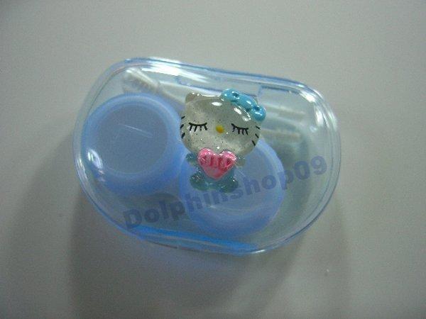 Blue Baby Hello Kitty Contact Lens Case Box Set