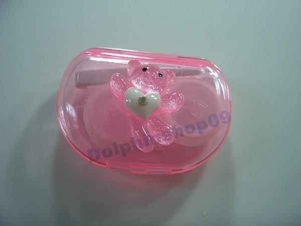 Pink Lovely Bear Contact Lens Case Box Set