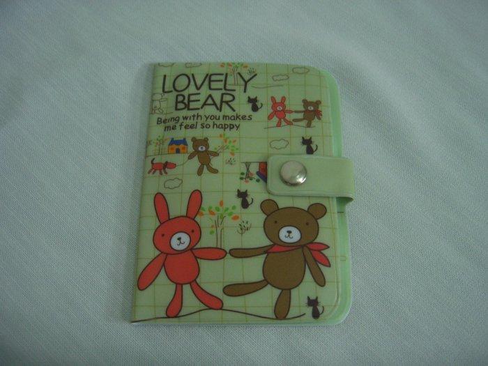 Green Bear Rabbit Plastic Name Card Holder