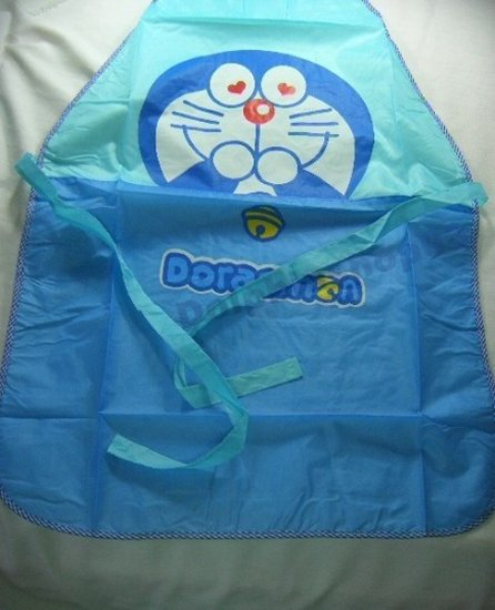 Blue Doraemon Waterproof Ventilated Apron