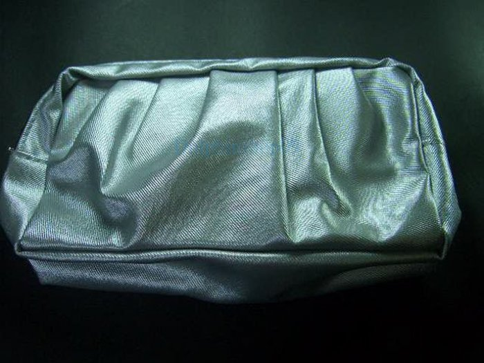 Silver Make Up Cosmetic Bag