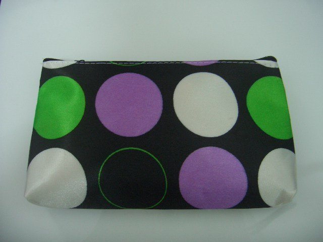 Purple Dot Cosmetic Make Up Bag Free Shipment