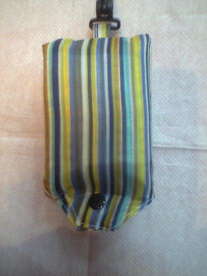 Pocket Blue Strip Tote Eco Bag