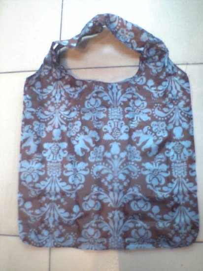 Pocket Black Blue Graphic Tote Eco Bag