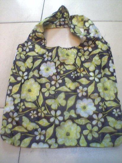 Black Yellow Flower Tote Eco Bag