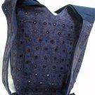 Bohemian Style Boho Gypsy Shoulder Bag Purse with Mirrorwork