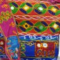Bohemian Style Gypsy Boho Bag with Hand Embroidered Elephant