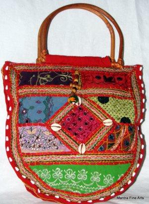 Bohemian Style Multi Color Gypsy Purse/Handbag with Embroidery